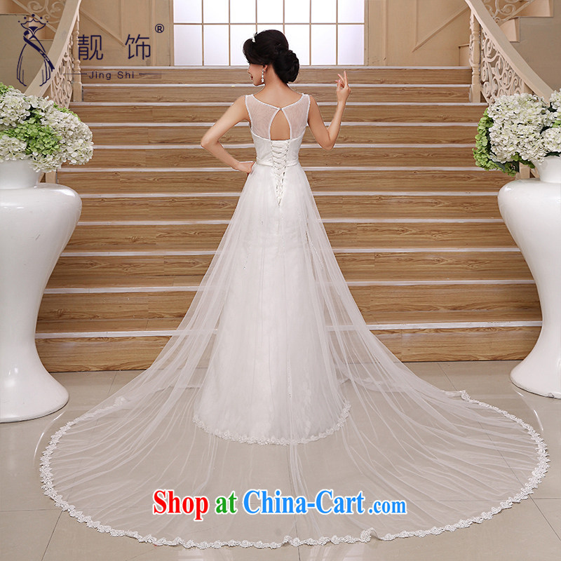 Beautiful ornaments 2015 new small-tail wedding Korean wiped his chest lace-tail wedding white. Contact customer service, beautiful ornaments JinGSHi), online shopping