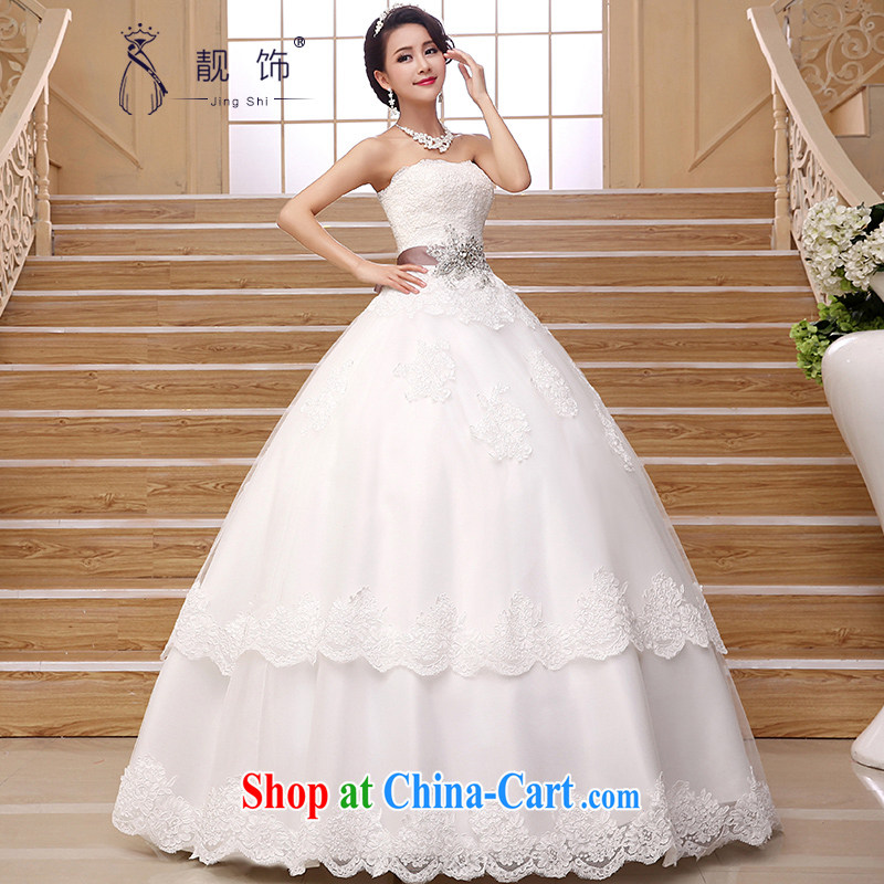 Beautiful ornaments 2015 new, wipe off his chest, wedding Korean modern luxury lace diamond jewelry bridal wedding dresses white wedding dresses made contact Customer Service