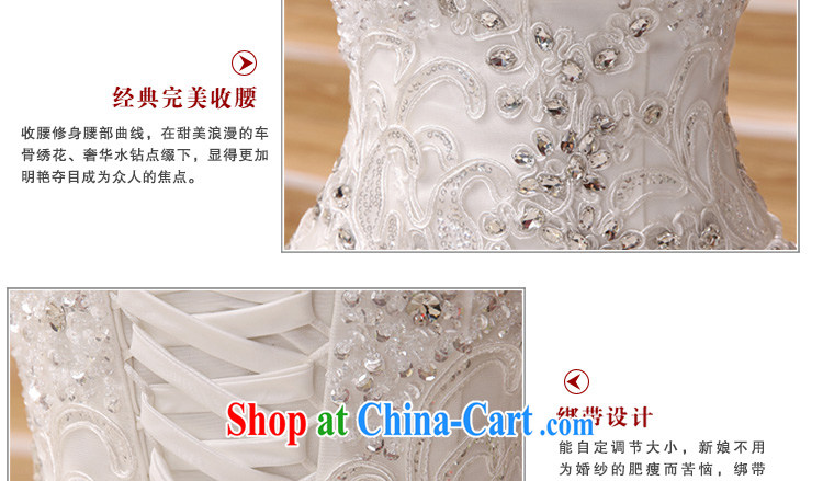 very nice decorated Deluxe Big-tail 2015 new wedding Korean elegant wiped his chest high water drilling long-tail wedding white Deluxe Big and make contact Customer Service pictures, price, brand platters! Elections are good character, the national distribution, so why buy now enjoy more preferential! Health