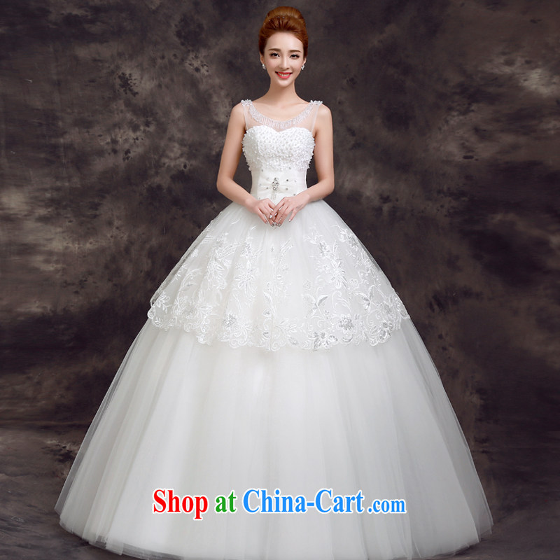 A good service is 2015 New Spring Summer with Korean fashion graphics thin large code marriages wedding dresses female white 2 XL