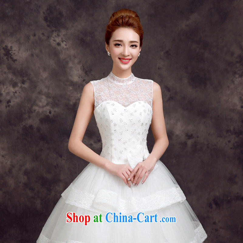 A good service is 2015 new spring and summer bridal dresses with lace shoulders Korean Beauty graphics thin marriage wedding white 2XL