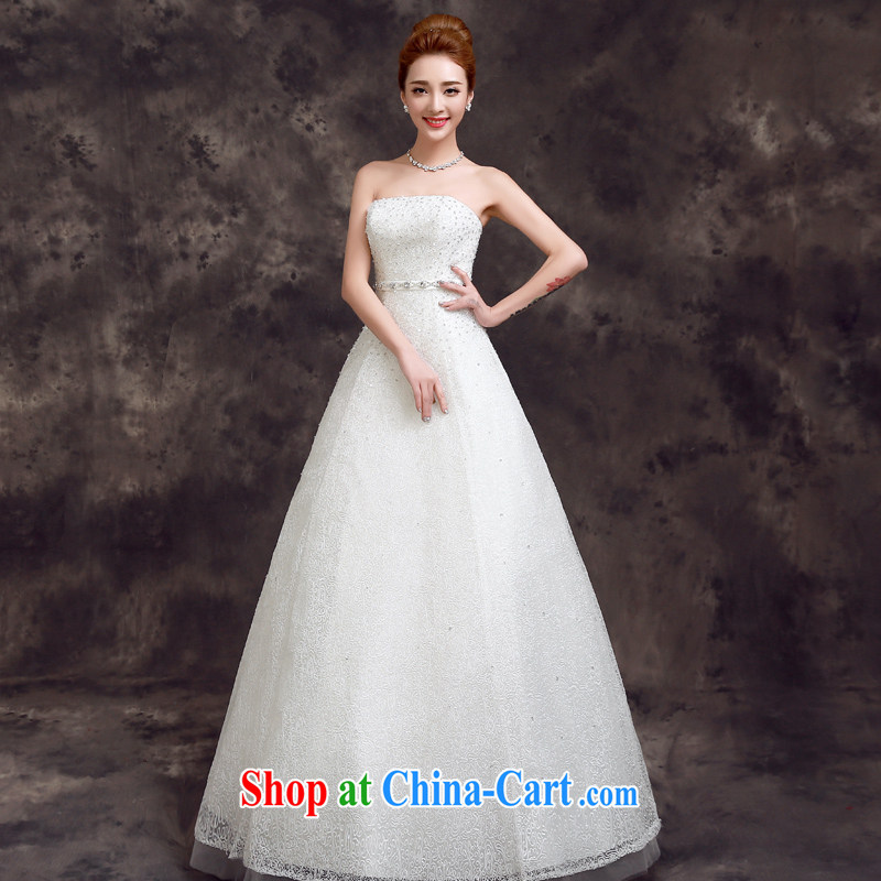 A good service is a Korean-style bridal wedding dress 2015 new spring and summer stylish wiped his chest, minimalist beauty wedding white 2XL
