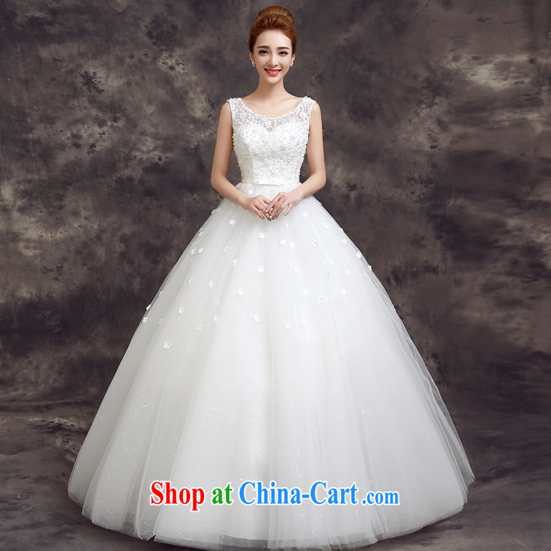 A good service is 2015 new spring and summer bridal wedding dress Korean fashion lace shoulders with beauty wedding white 2XL