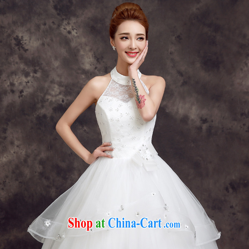 A good service is a Korean-style bridal wedding dress 2015 new spring and summer stylish lace-up also with graphics thin wedding white 2XL