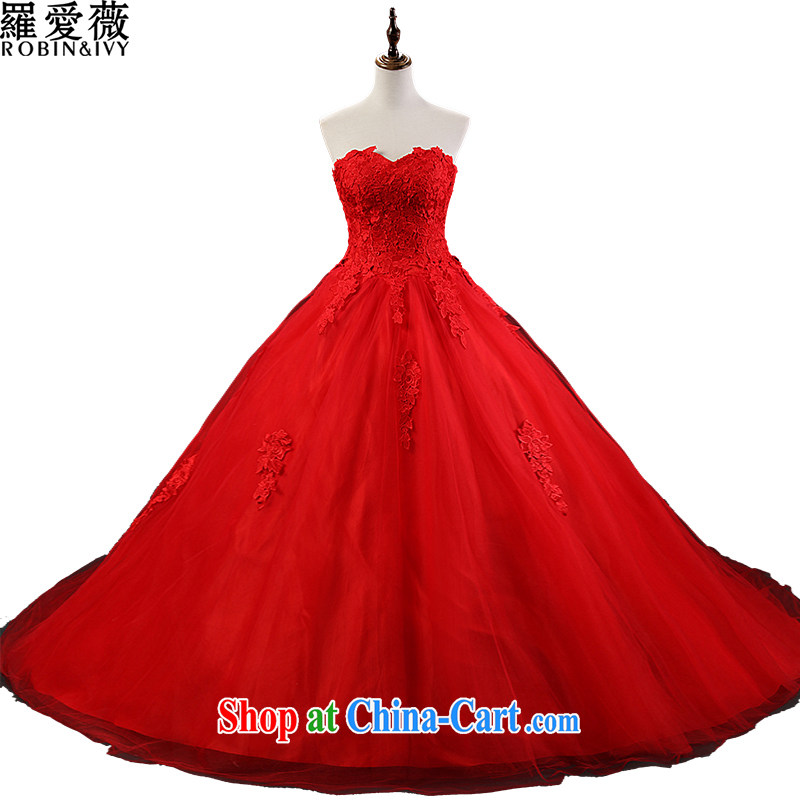 Paul love Ms Audrey EU _RobinIvy_ 2015 new wedding dresses custom erase chest bridal wedding H 13,867 red XL