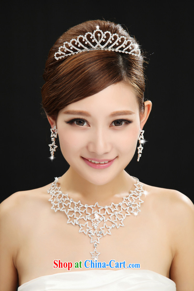 The married Yi bridal headdress earrings 3 piece set Korean water drilling hair accessories wedding jewelry wedding jewelry set white pictures, price, brand platters! Elections are good character, the national distribution, so why buy now enjoy more preferential! Health