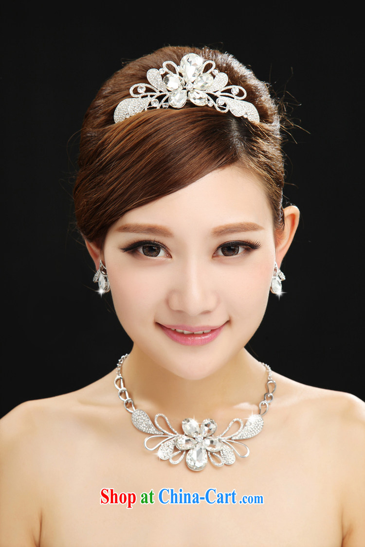 The married Yi marriages yarn sweet Crown necklace earrings 3-piece kit and jewelry jewelry hair accessories accessories white pictures, price, brand platters! Elections are good character, the national distribution, so why buy now enjoy more preferential! Health
