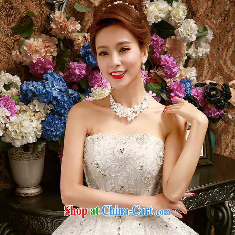 2015 new wiped his chest, wedding dresses larger graphics thin beauty marriages spring and summer drilling wedding Korean white XL