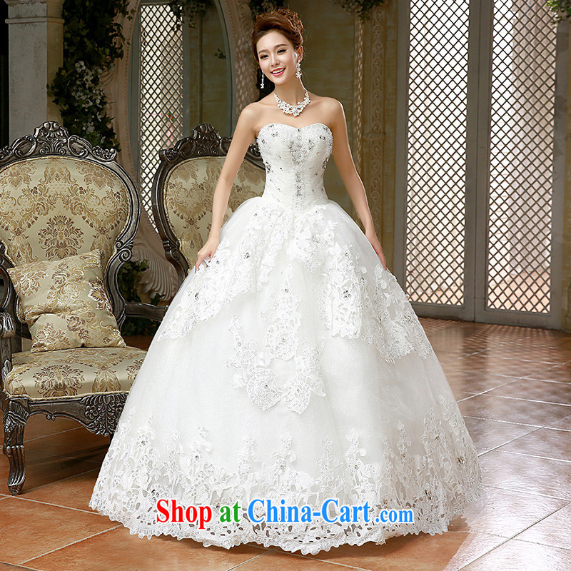 2015 new wiped his chest, wedding dresses video thin beauty Diamond Wedding Korean marriages spring and summer white XL