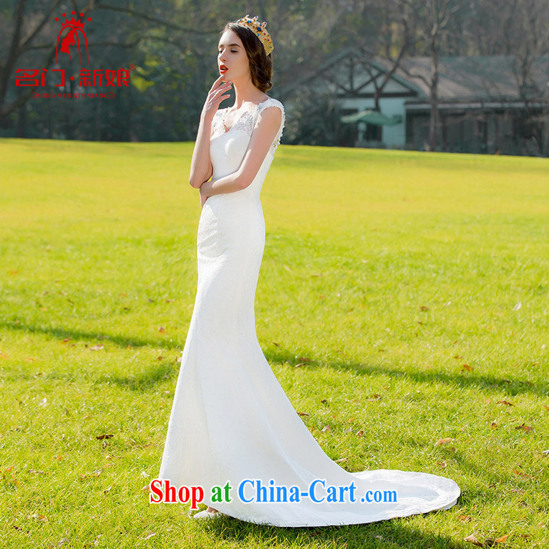 The bride's 2015 new lace crowsfoot Korean sweet Princess cultivating small tail wedding dresses 230 M
