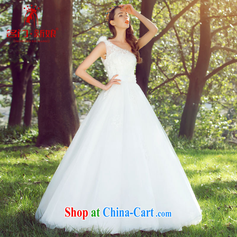 The bride 2015 stylish single shoulder wedding manual stereo shaggy Princess wedding romantic lace 578 L