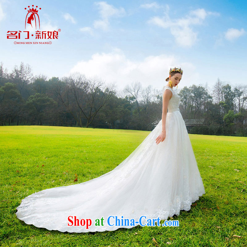 The bride's stylish and simple wedding 2015 new wedding Deluxe lace-tail 570 L