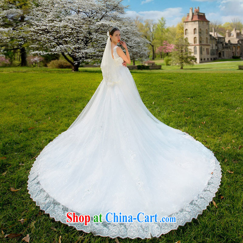 The bride's wedding dresses 2015 new wedding shoulders back exposed tail wedding lace wedding 889 S, the bride, shopping on the Internet