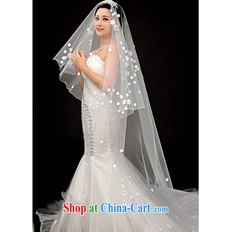 A good service is 2015 new brides and legal wedding dress and yarn ultra-long small flowers and yarn white