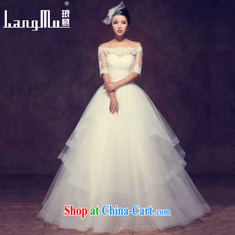 In Luang Prabang in 2015 OF NEW FIELD shoulder wedding dresses Western simple and stylish small tail erase chest spring and summer, bridal wedding with the MA A size custom clothing and long 138 CM