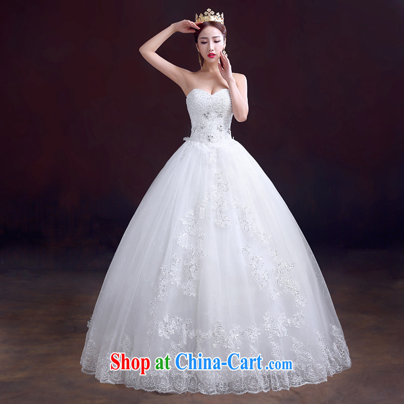 The married Yi 2015 new spring wedding dresses wiped his chest to tie, wedding wood drill white wedding video thin wedding white XXL