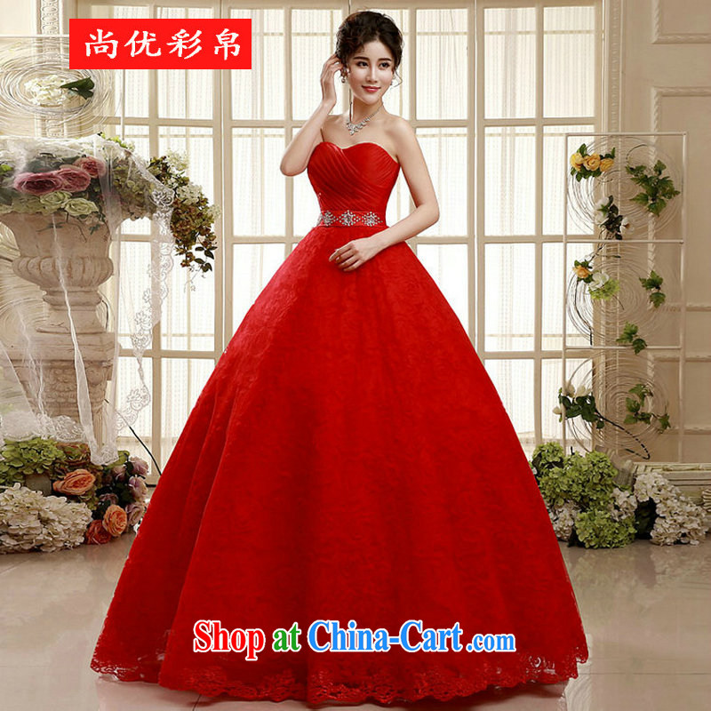 It is also optimized condolence With Red wedding dresses new spring 2015 upscale bridal pregnant wedding XS 5541 red XXL