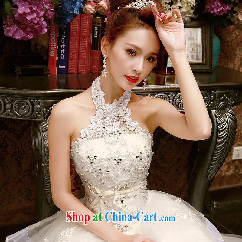wedding dresses new spring 2015 spring and summer Korean retro large code graphics thin alignment to hang also wedding bridal white white XL
