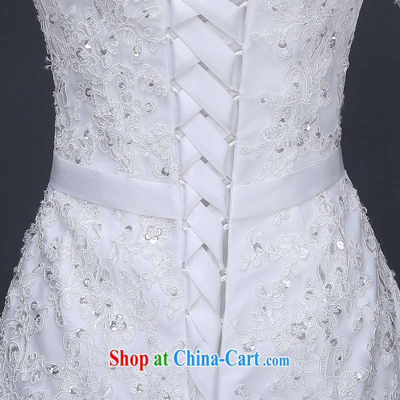 Jie MIA 2015 spring and summer new wedding dresses simple and stylish a shoulder-tail marriages Korean version the code with white L, Jake Mia, and shopping on the Internet