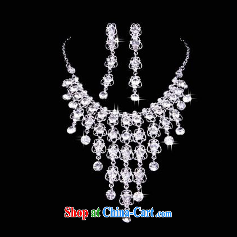 New bridal necklace earrings jewelry set bridal necklace set wedding accessories