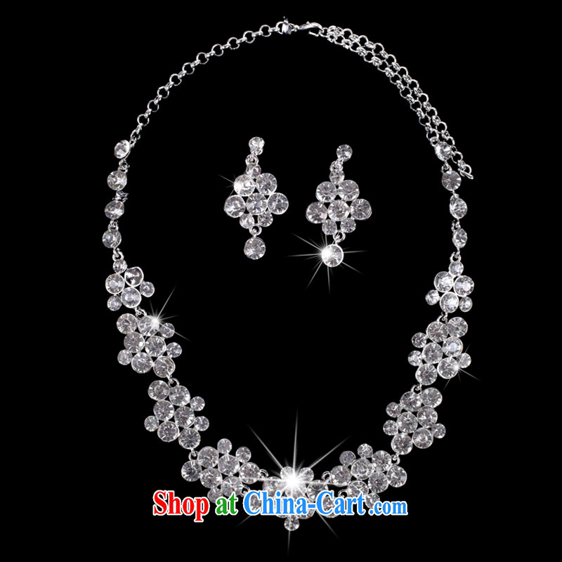 wedding accessories beautiful bridal wedding jewelry water diamond necklace pearl necklaces earrings kit