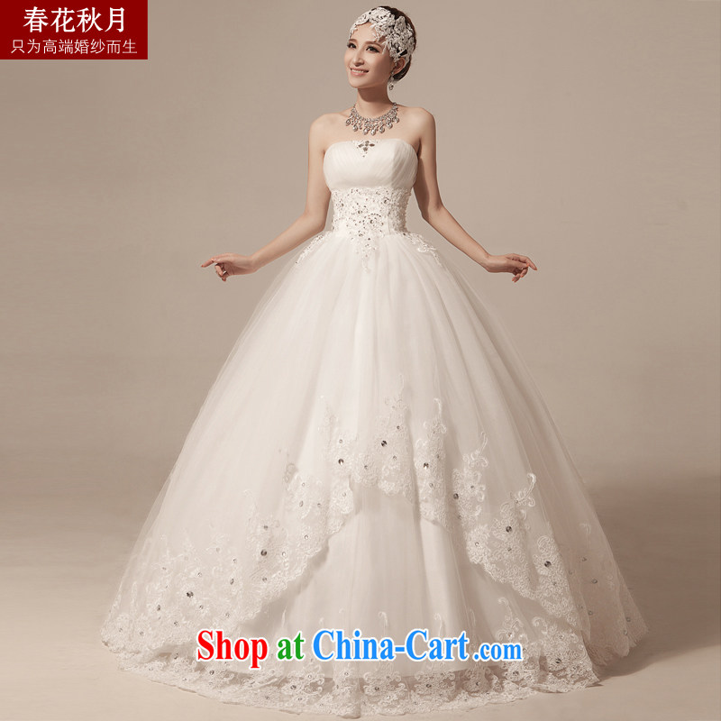 Bridal wedding dresses Korean spring and summer new 2015 stylish bridal white retro large code with Mary Magdalene chest strap white XXL