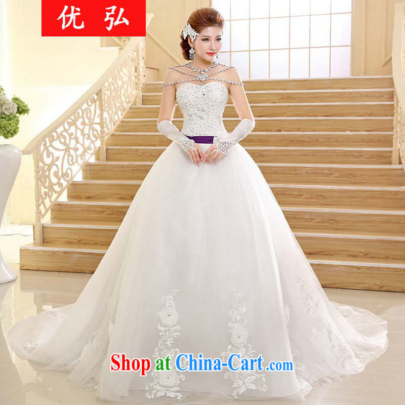 Optimize video 2015 new Korean word for shoulder wiped his chest tail beauty wedding dresses HS 002 XXL