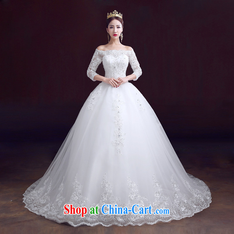 The married Yi wedding dresses 2015 new spring field shoulder wedding cuff in tail, marriage wedding with XXL paragraph