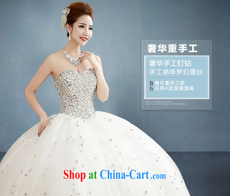 Honeymoon bride spring 2015 new female inserts drill video thin smears chest wedding dresses with white Princess XL pictures, price, brand platters! Elections are good character, the national distribution, so why buy now enjoy more preferential! Health