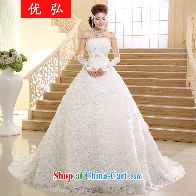 Optimize video 2015 new wedding dresses Korean fashion erase chest tail drill marriages wedding video thin HS 005 XXL
