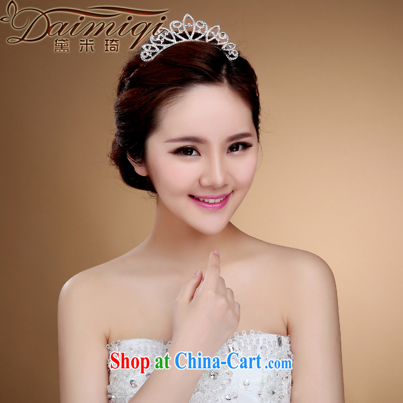 Diane M Ki heart-shaped bridal crown and Korean-style wedding dresses jewelry jewelry hair accessories necklaces earrings wedding accessories white
