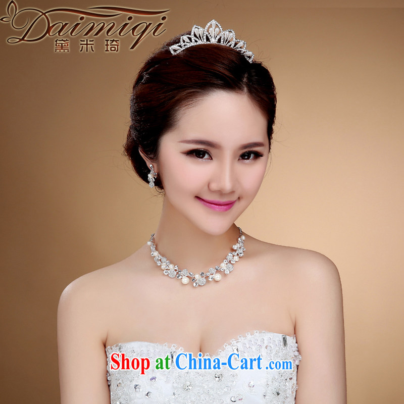 Diane M Ki rich bridal Crown 2015 new Korean bridal head-dress Crown wedding dresses with jewelry white