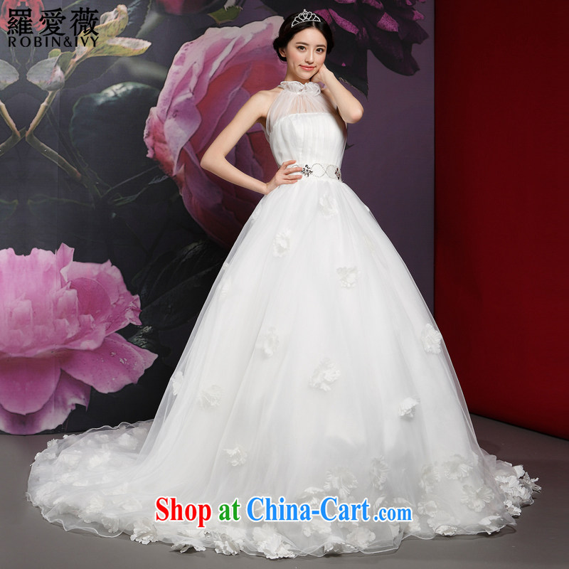Paul love Ms Audrey EU Yuet-mee, RobinIvy_ wedding dresses 2015 new mount also tail, Japan, and South Korea wedding H 14,728 white XL