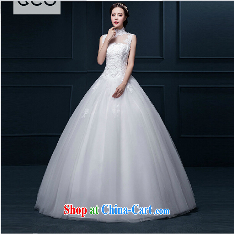 wedding dresses spring 2015 new Korean version simple double-shoulder with graphics thin bride married a field shoulder wedding white. size does not return do not switch