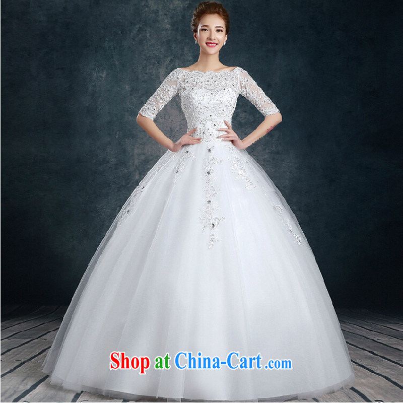 2015 new stylish one shoulder wedding dresses spring and summer's minimalist cuff in cultivating the code bridal wedding dresses white XL