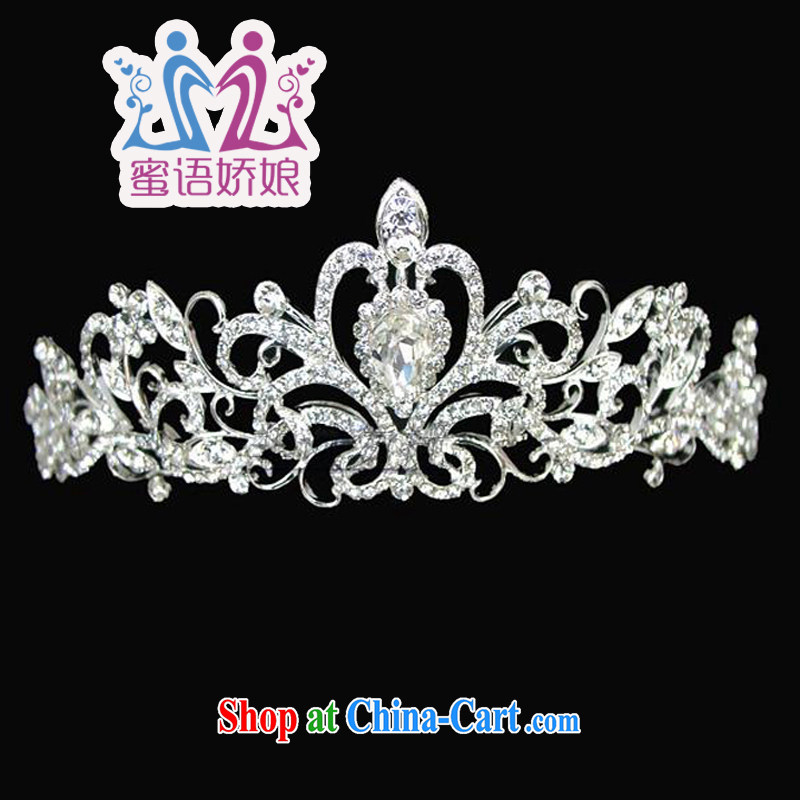 Honey, bride alloy point drill bridal crown the crown wedding dresses accessories and ornaments hair accessories wedding accessories diameter 15 CM