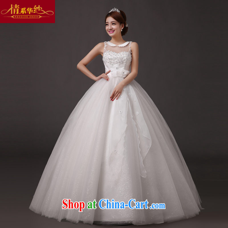 The china yarn bridal wedding custom Korean layout the code with a shoulder 2015 wedding dresses new spring pregnant women with strap white. size does not accept return