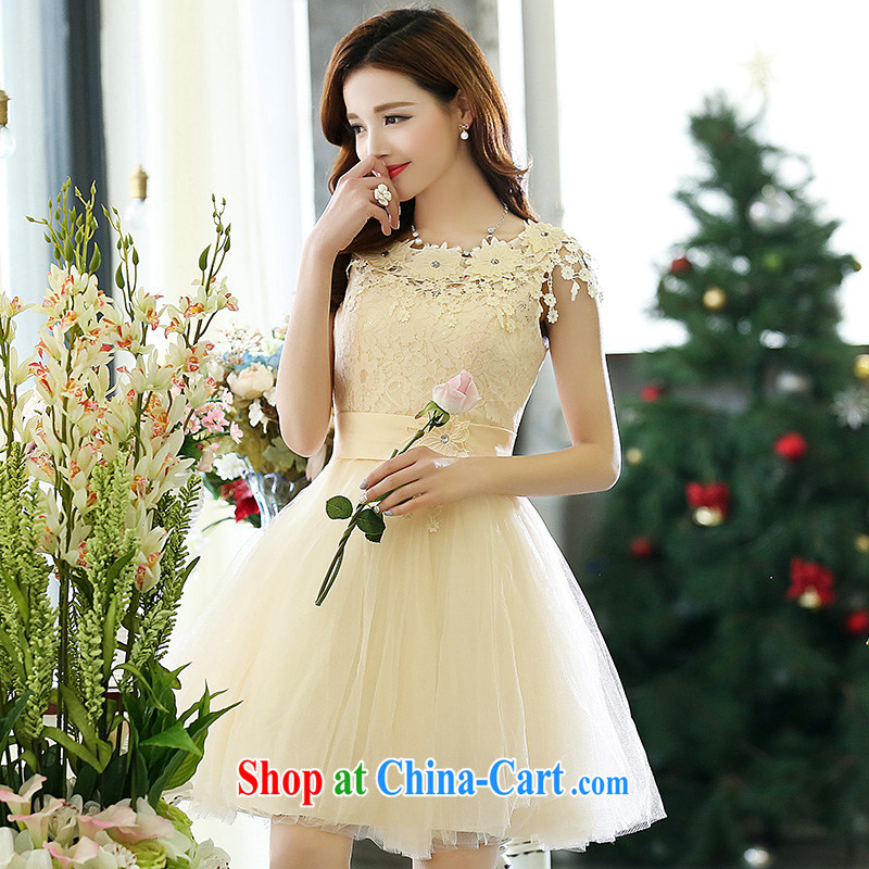 Dream for 2015 spring Korean version of cultivating gas round-collar sleeveless style shaggy chic dress wedding dress white XL