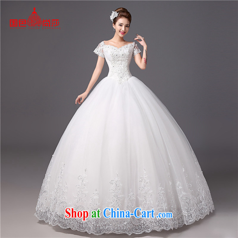 Bridal wedding dresses the Field shoulder Palace antique Korean video thin large code with summer with thick wedding drill white XXL