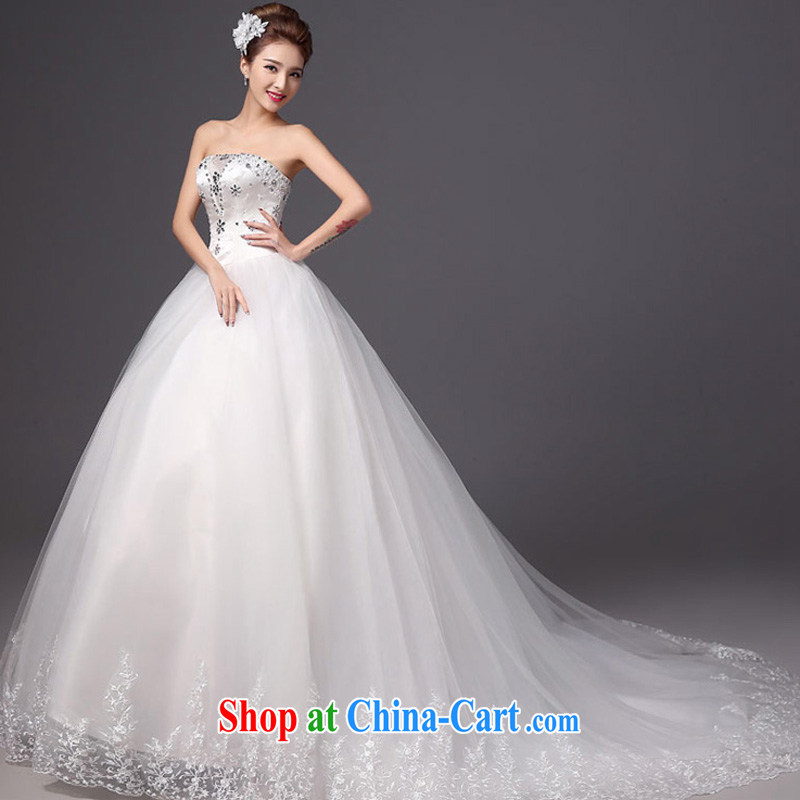 Summer 2015 New Products New Wedding Fashion erase chest tail bridal wedding dresses beauty graphics thin white strap white XXL, the color is Windsor, online shopping