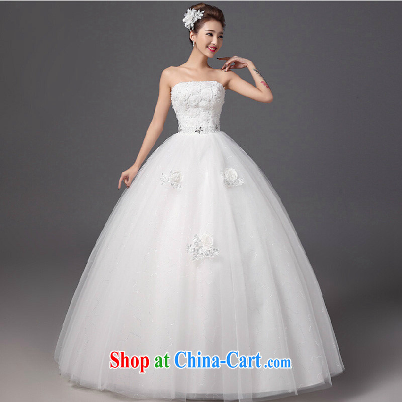 2015 fall and winter new flowers erase chest wedding dresses stylish beauty graphics thin brides with wedding white XXL