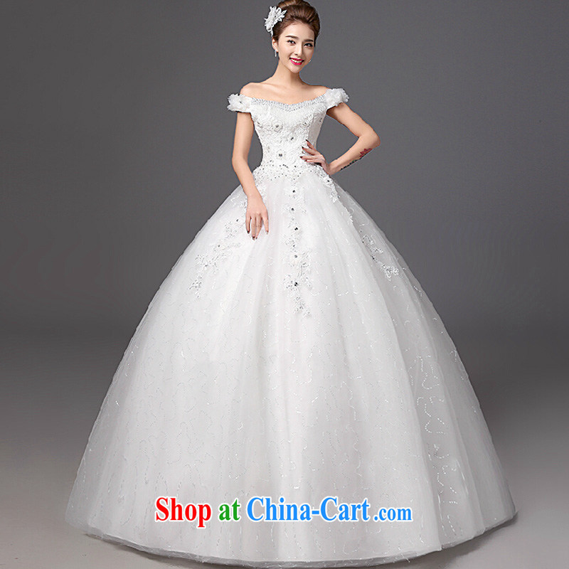 The color is still Windsor bridal wedding dresses 2015 new stylish Korean field shoulder with graphics thin large code wedding white XXL