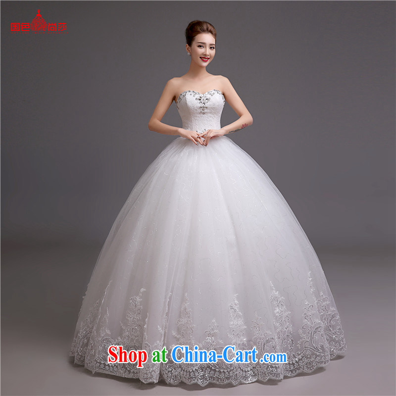 Winter wedding dresses 2015 new stylish erase chest Korean white bridal wedding romantic retro wedding dresses white XXL
