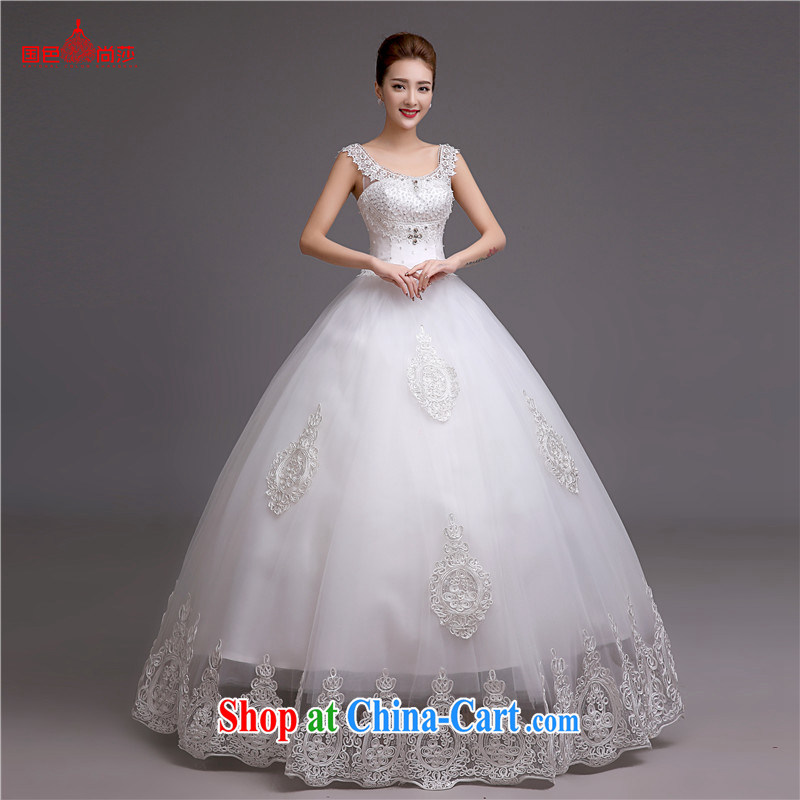 Video thin wedding dresses 2015 new stylish erase chest Korean white bridal wedding romantic retro wedding dresses white XXL