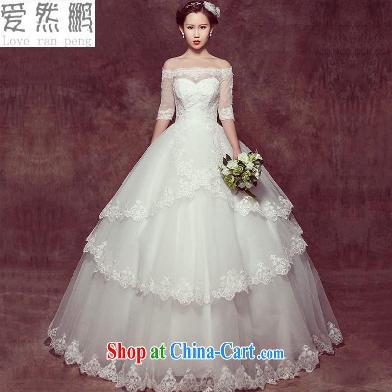 Spring 2015 new stylish Korean wedding dresses simple beauty brides field shoulder with bridal wedding custom XL pieced