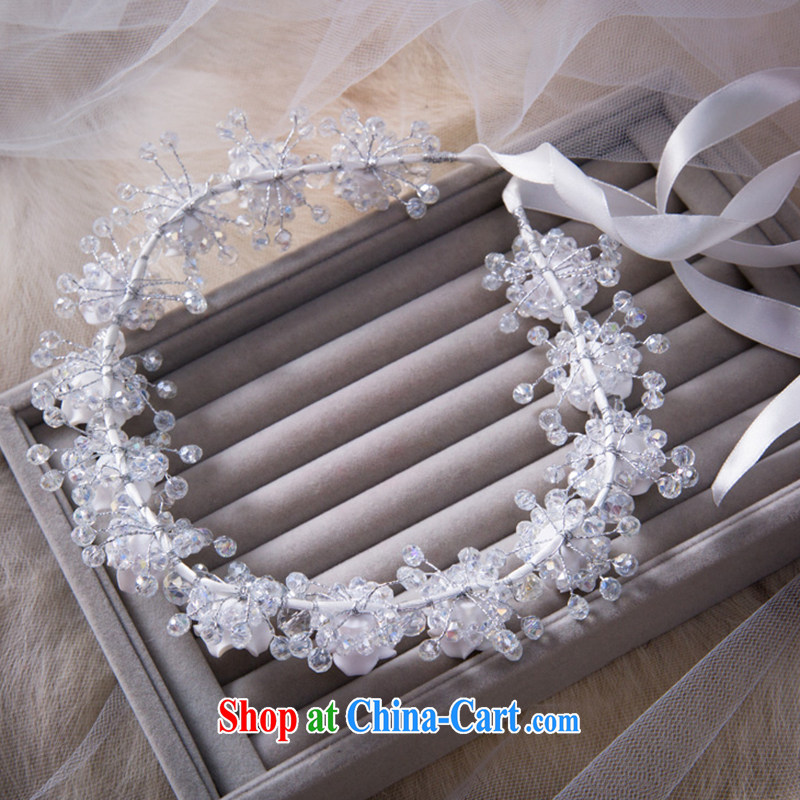 Water dance bride Korean sweet styling garlands and ornaments wedding hair accessories wedding accessories 14 of flower garlands and gift boxed, water dance, shopping on the Internet