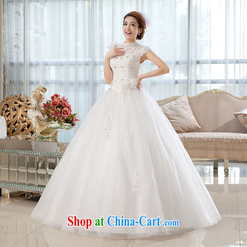 The china yarn wedding dresses new 2015 spring and stylish brides field shoulder with simple lace package shoulder graphics thin with wedding white. size does not accept return