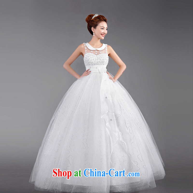 Beijing, Hong Kong, 2015 as soon as possible new bridal wedding dresses Korean Princess-pregnant women wedding with terrace back straps, XXL