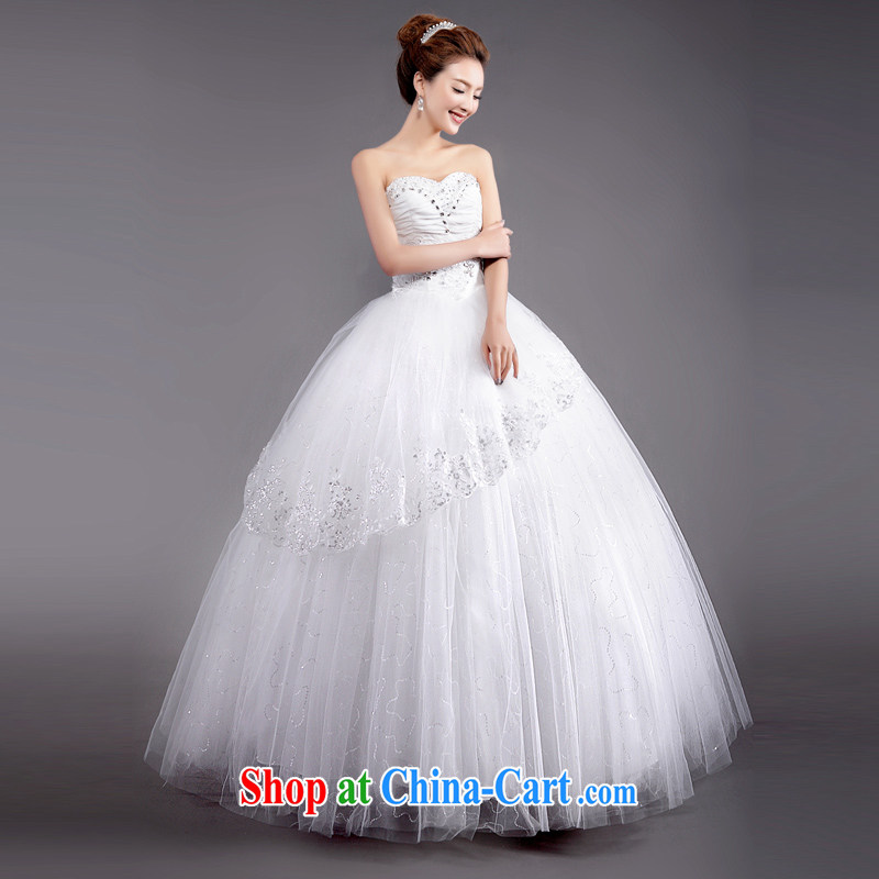 The Champs Elysees, as soon as possible, 2015 wedding dresses dress new spring Korean Princess-bride sexy wiped his chest to marriages XXL