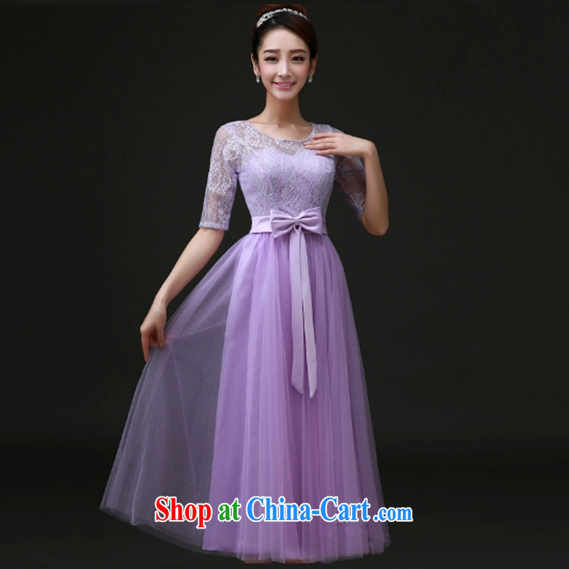 A Chinese Evening Dress 2015 spring and summer new bridesmaid serving short bridesmaid dress the dress wedding toast service bridal gown Evening Dress purple